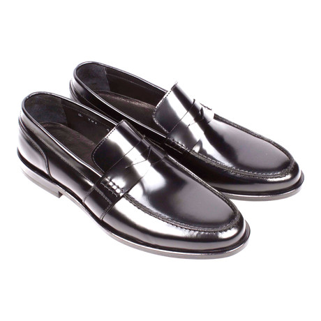 Patent Leather Penny Loafer // Black