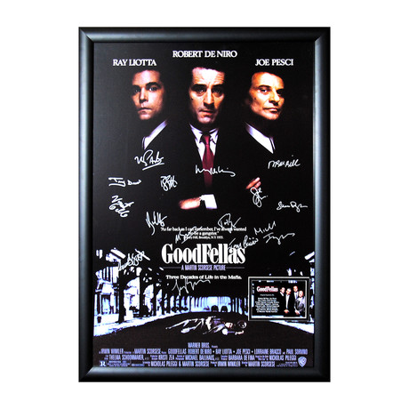 Signed Movie Poster // Goodfellas