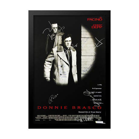 Donnie Brasco Signed Movie Poster