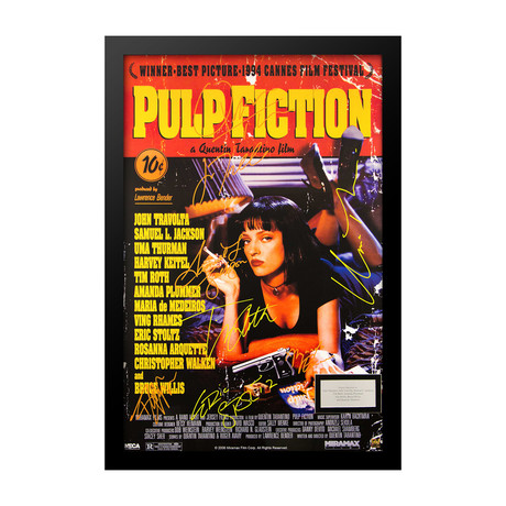Signed Movie Poster // Pulp Fiction