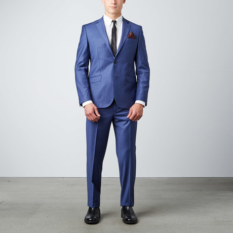 6 Drop Slim Fit Suit // Blue