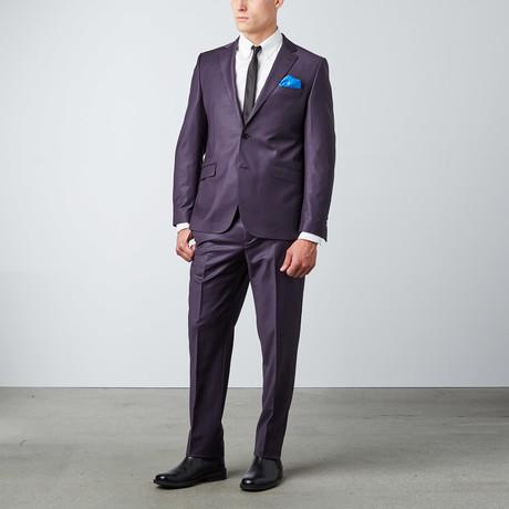 6 Drop Slim Fit Suit // Purple (Euro: 44)