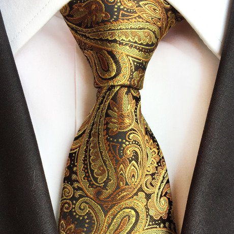 Wilmer Silk Tie // Gold