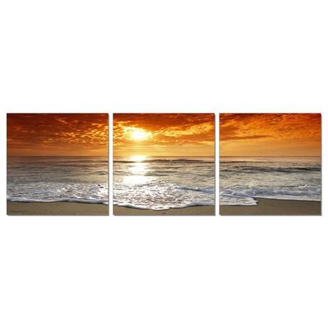 """Blazing Sunset (60""""W x 20""""H x 1""""D)"""