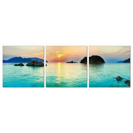 Evening Islet (72″W x 24″H x 1″D)