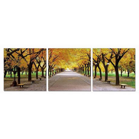 Autumn in the Park (60″W x 20″H x 1″D)