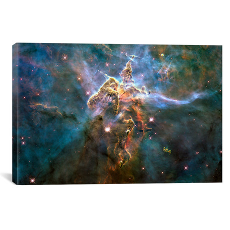 "Mystic Mountain in Carina Nebula (Hubble Space Telescope) // NASA (40""W x 26""H x 1.5""D)"