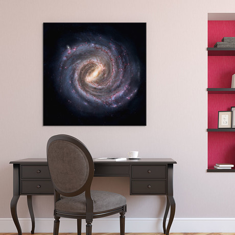 "Milky Way Galaxy Concept // Unknown Artist (18""W x 18""H x 0.75""D)"