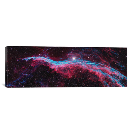 "NGC 6960 (Witch's Broom), Western Veil Of The Veil Nebula // NASA (60""W x 20""H x 0.75""D)"