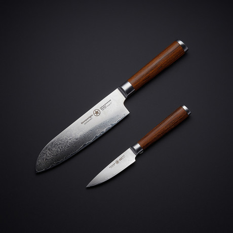 Damascus Knives // Set of 2