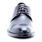 Beckett Embellished Cap-Toe Derby // Black (US: 11.5)