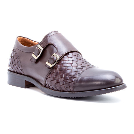 Mahler Woven Double Monkstrap // Brown
