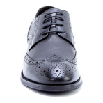 Rossini Madallion Wing-Tip Derby // Black (US: 11)