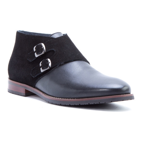Napoli Double Monkstrap Chukka // Black (US: 8)