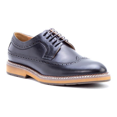 Kooning Wing-Tip Derby // Black (US: 8)