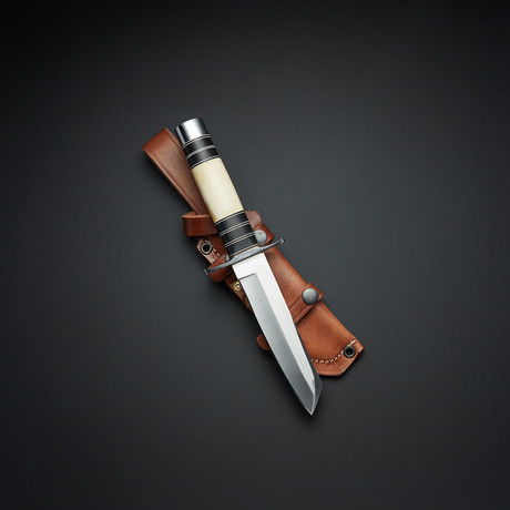 D2 Self Defense Bone Micarta Takumi Tanto Knife