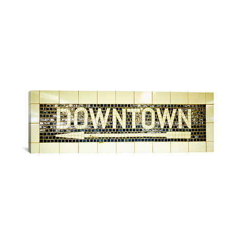 "USANew York City, subway sign // Panoramic Images (36""W x 12""H x 0.75""D)"