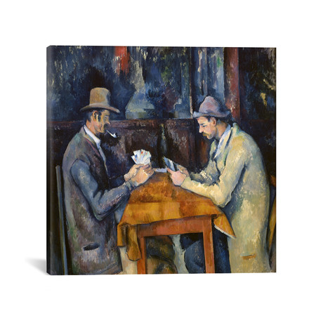 "The Card Players // Paul Cezanne // c. 1893-96 (18""W x 18""H x 0.75""D)"