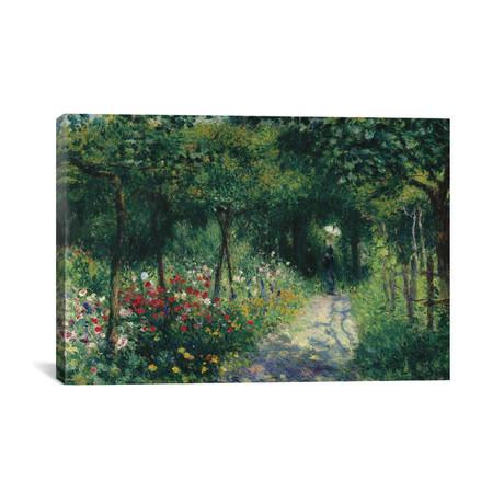 """Femmes Dans Un Jardin // Pierre-Auguste Renior // 1873 (18""""W x 26""""H x 0.75""""D)"""