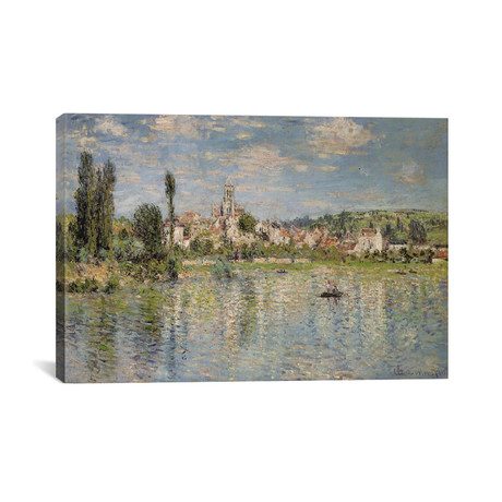 "Vetheuil in Summer // Claude Monet // 1880 (18""W x 26""H x 0.75""D)"