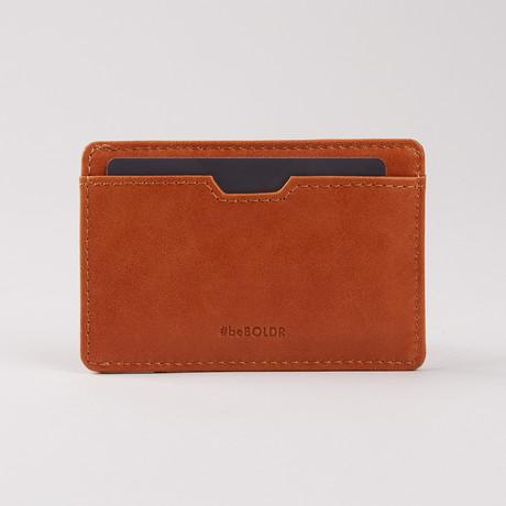 BOLDR Slim Wallet // Caramel Brown