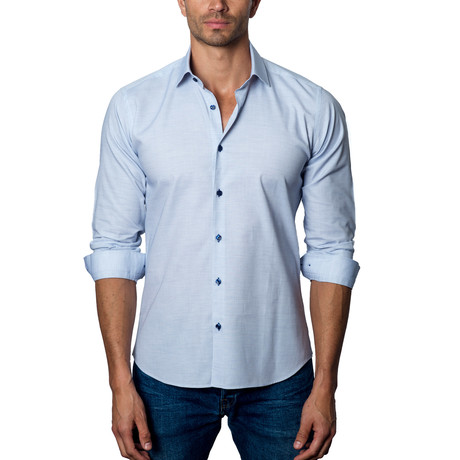 Woven Button-Up // Sku Blue