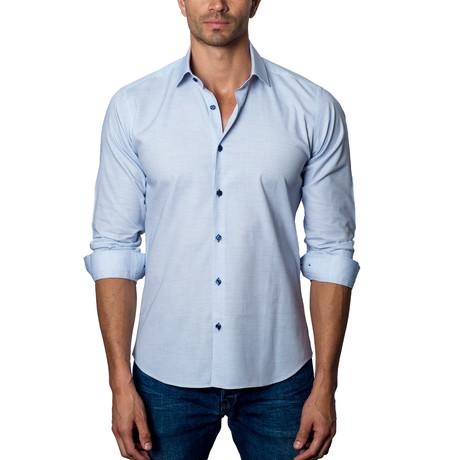 Woven Button-Up // Sku Blue