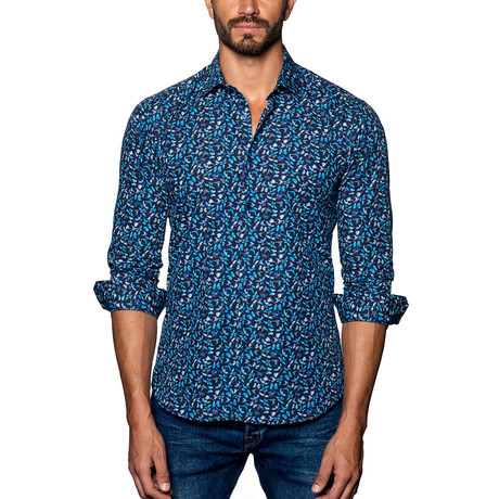 Butterfly Button-Up // Black + Blue Multi