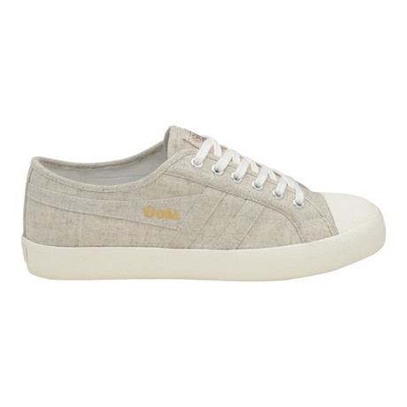 Coaster Linen Low Top Plimsoll // Oatmeal + Off White