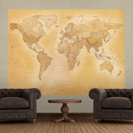 Vintage Style Old Map Deco Wall Mural