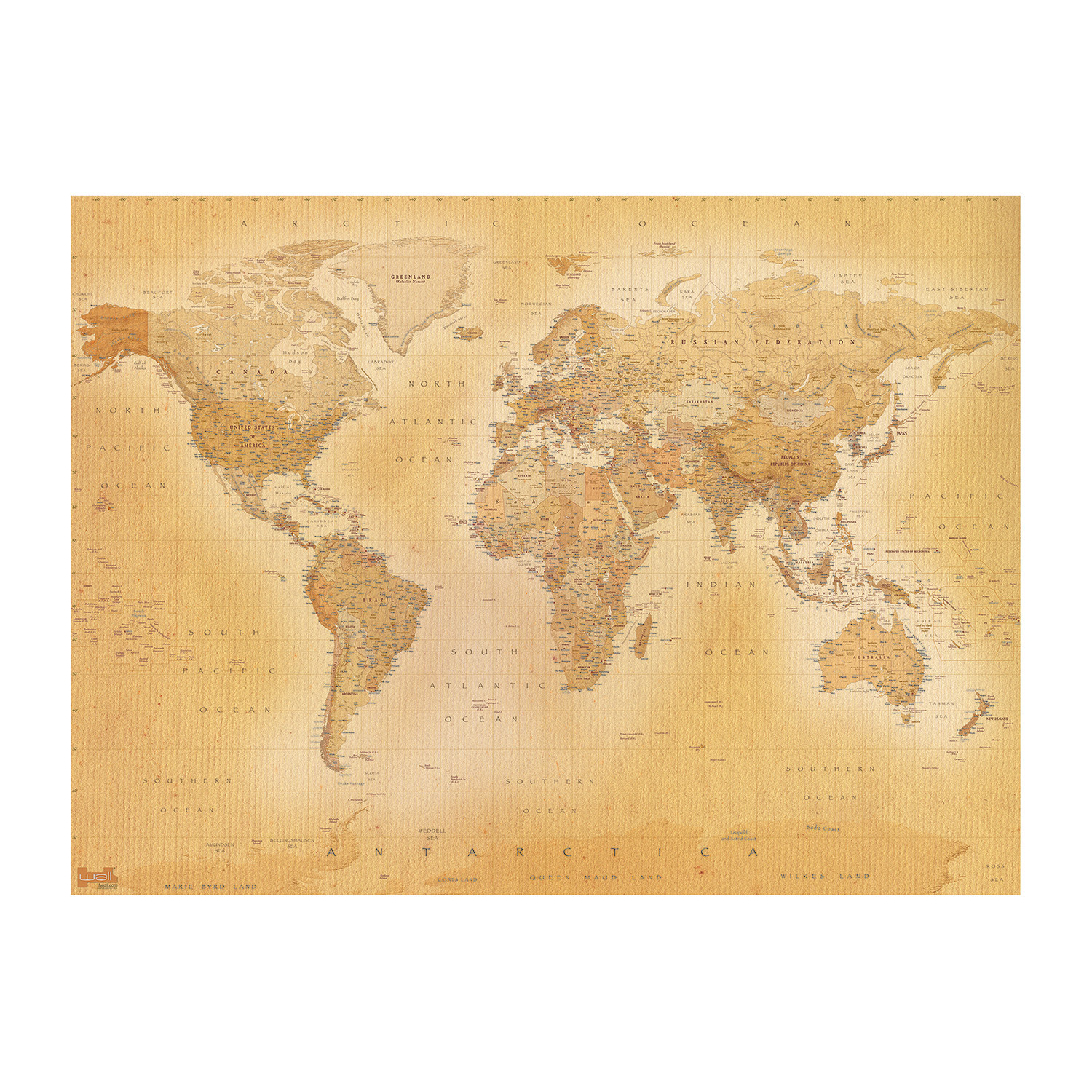vintage style old map wall mural 1 wall murals touch of modern vintage style old map wall mural