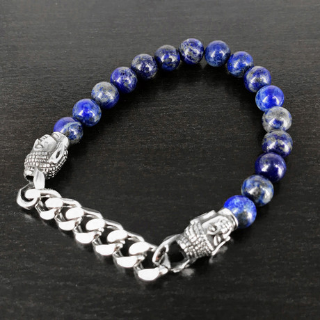 Buddha Combo Bracelet // Lapis Lazuli Bead