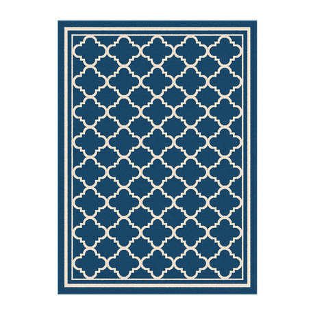 Garden City Tangier Transitional Rug // Navy