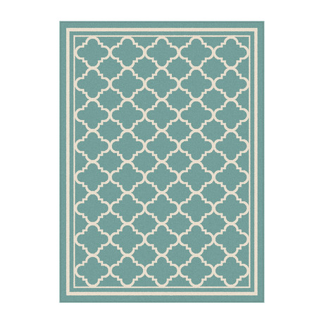 Garden City Tangier Transitional Rug // Aqua