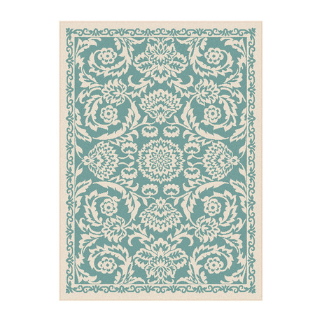 Garden City Basile Transitional Rug // Aqua