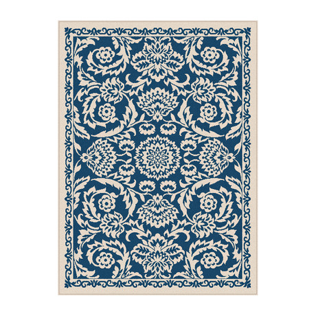 Garden City Basile Transitional Rug // Navy