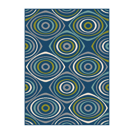 Garden City Quinn Transitional Rug // Navy