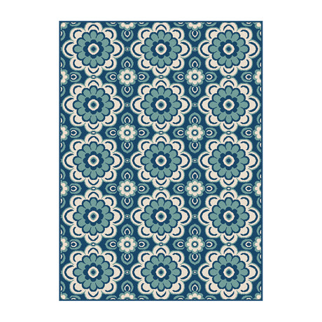 Garden City Tiffany Transitional Rug // Navy