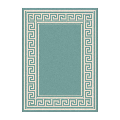 Garden City Gaia Transitional Rug // Aqua