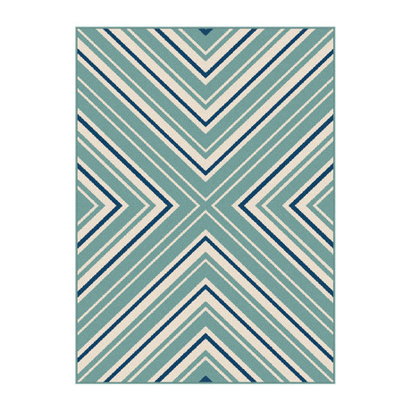 Garden City Charley Transitional Rug // Blue