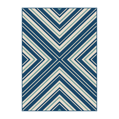 Garden City Charley Transitional Rug // Navy