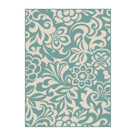 Garden City Tahari Transitional Rug // Aqua