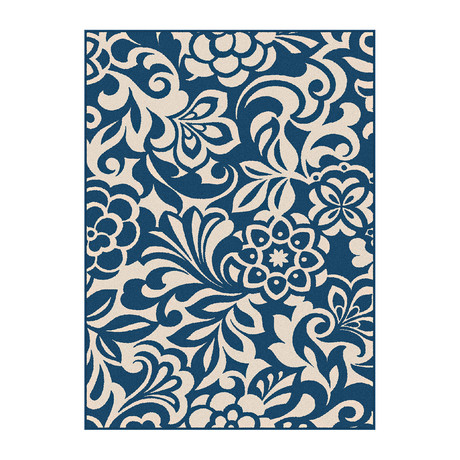 Garden City Tahari Transitional Rug // Navy