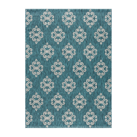 Veranda Vega Transitional Rug // Teal