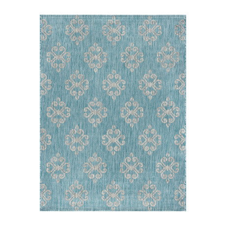 Veranda Vega Transitional Rug // Aqua