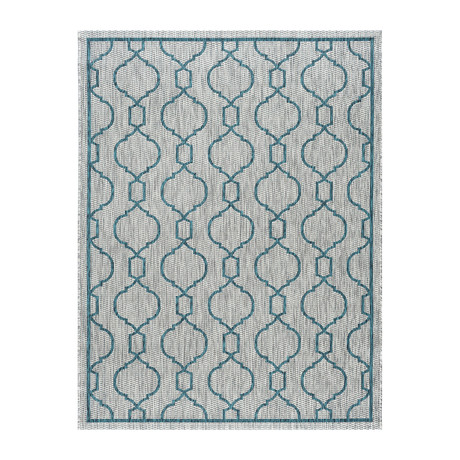 Veranda Villa Transitional Rug // Teal