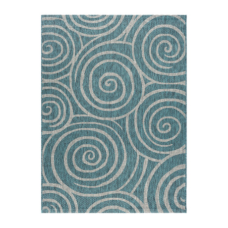 Veranda Varya Transitional Rug // Aqua