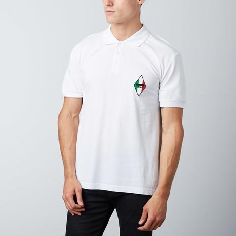 Italian Patch Polo // White