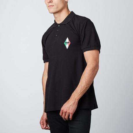 Italian Patch Polo // Black