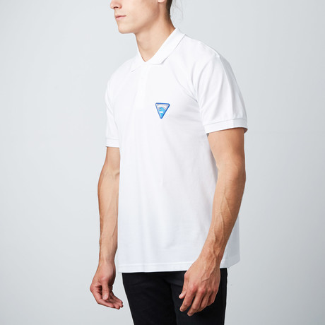 Wave Patch Polo // White